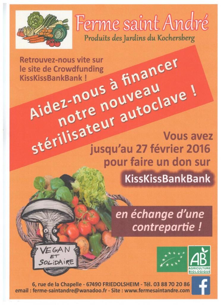 La Ferme Saint-André fait appel au financement participatif