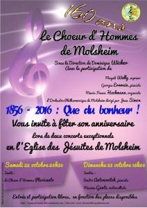Concerts du 160ième anniversaire du Chœur d'Hommes 1856 de Molsheim
