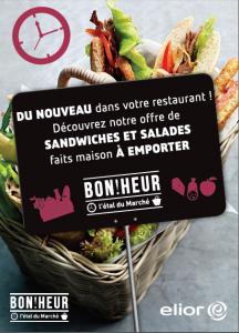 Sandwichs/salades au Restaurant d'entreprise