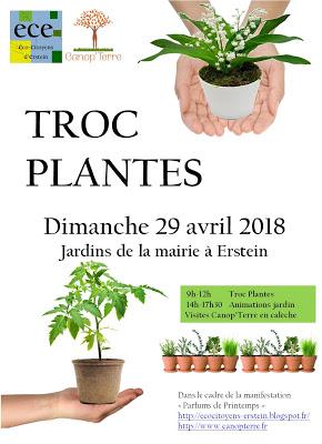 Troc plantes à Erstein dimanche 29 avril 9h-12h