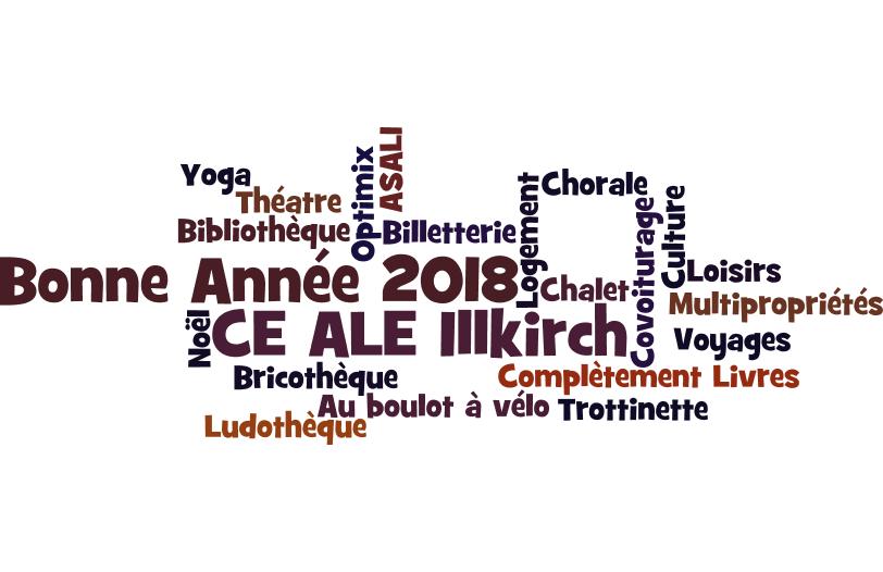Le CE vous souhaite une bonne année 2018 !